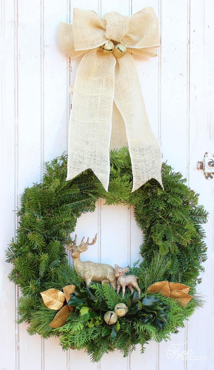christmas wreath making