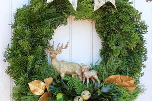 Handmade Christmas wreath tutorial