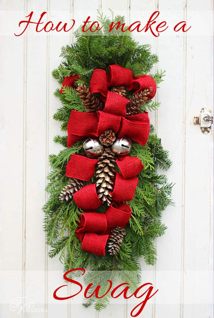 how to make a christmas swag - How To Decorate Your Door For Christmas