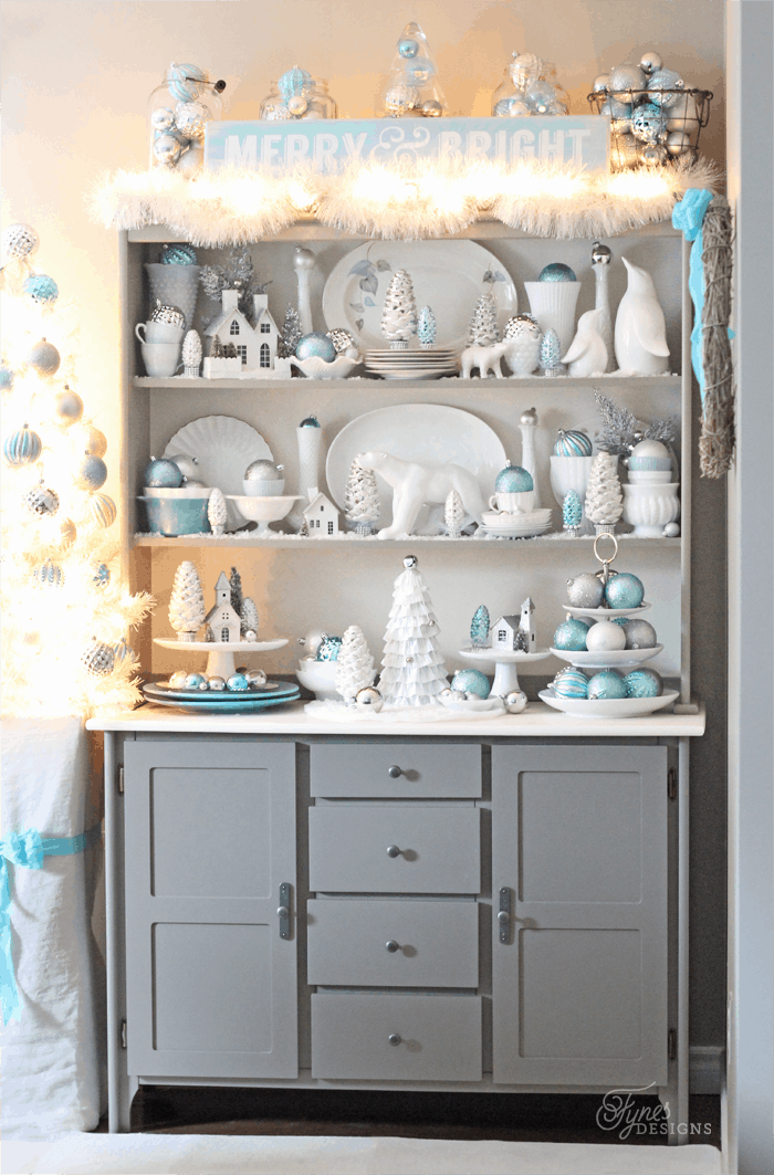 Bright and shiny christmas hutch fynes designs fynes for Hutch decor