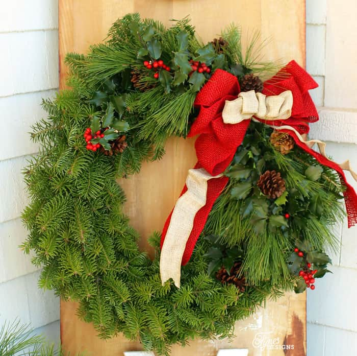 How To Make A Traditional Christmas Wreath   FYNES DESIGNS | FYNES DESIGNS
