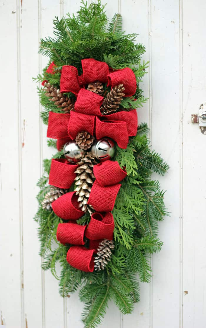 How To Make A Christmas Swag Wreath Fynes Designs