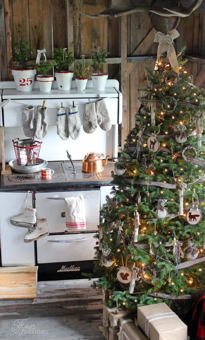 Rustic cabin christmas decorations - Have Yourself A Very Rustic Christmas