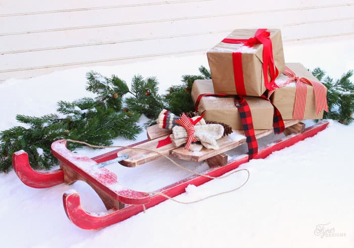 how to build a vintage sled - Wooden Sled Decoration Christmas