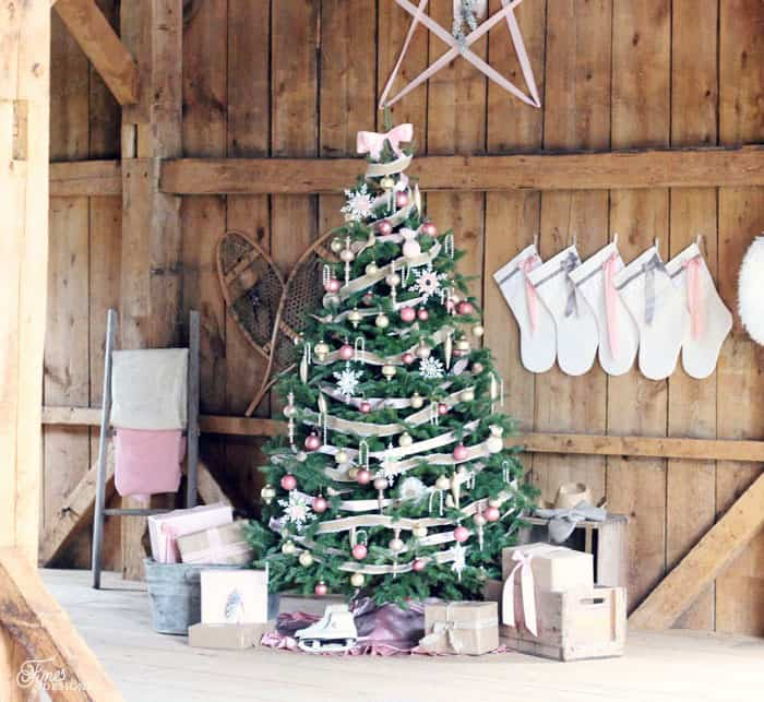 The Whole Vision For This Christmas Stated When I Came Across So Vintage Pink Bulbs At A Thrift Shop And Then Adding In Few New Items