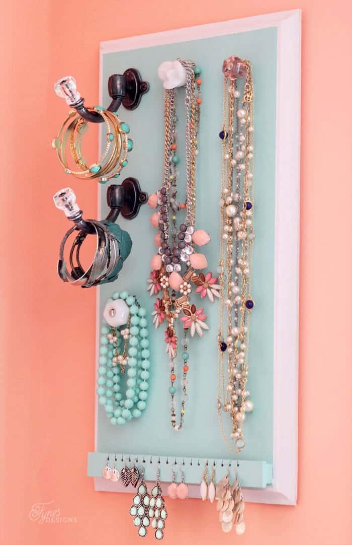 DIY Jewelry Organizer FYNES DESIGNS FYNES DESIGNS