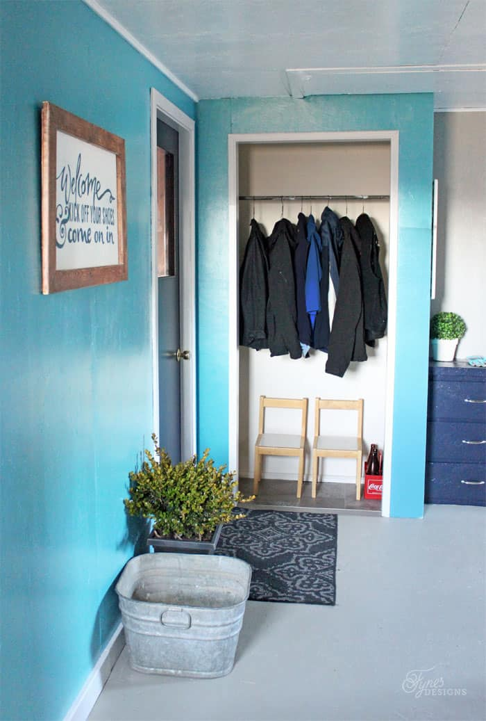Farmhouse Mudroom Makeover Just With Paint Fynes