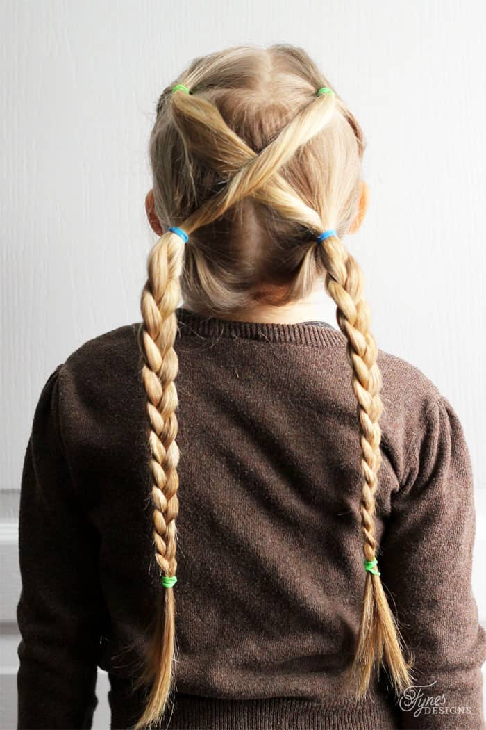 hair styles for girls long hair 5 minute school day hair styles fynes designs 9304 | criss cross braid
