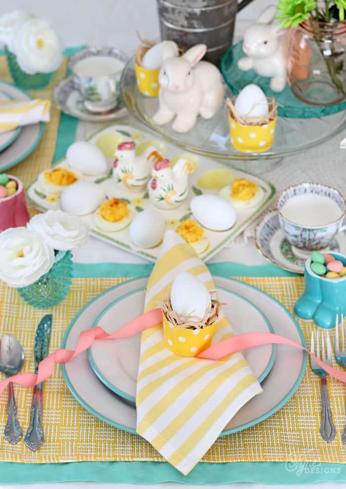 Easter Dinner Party Ideas Part - 17: Easter Tablescape- Dinner Party Hop
