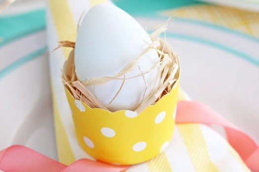 Use cute paper muffin cups instead of buying a set of egg cups