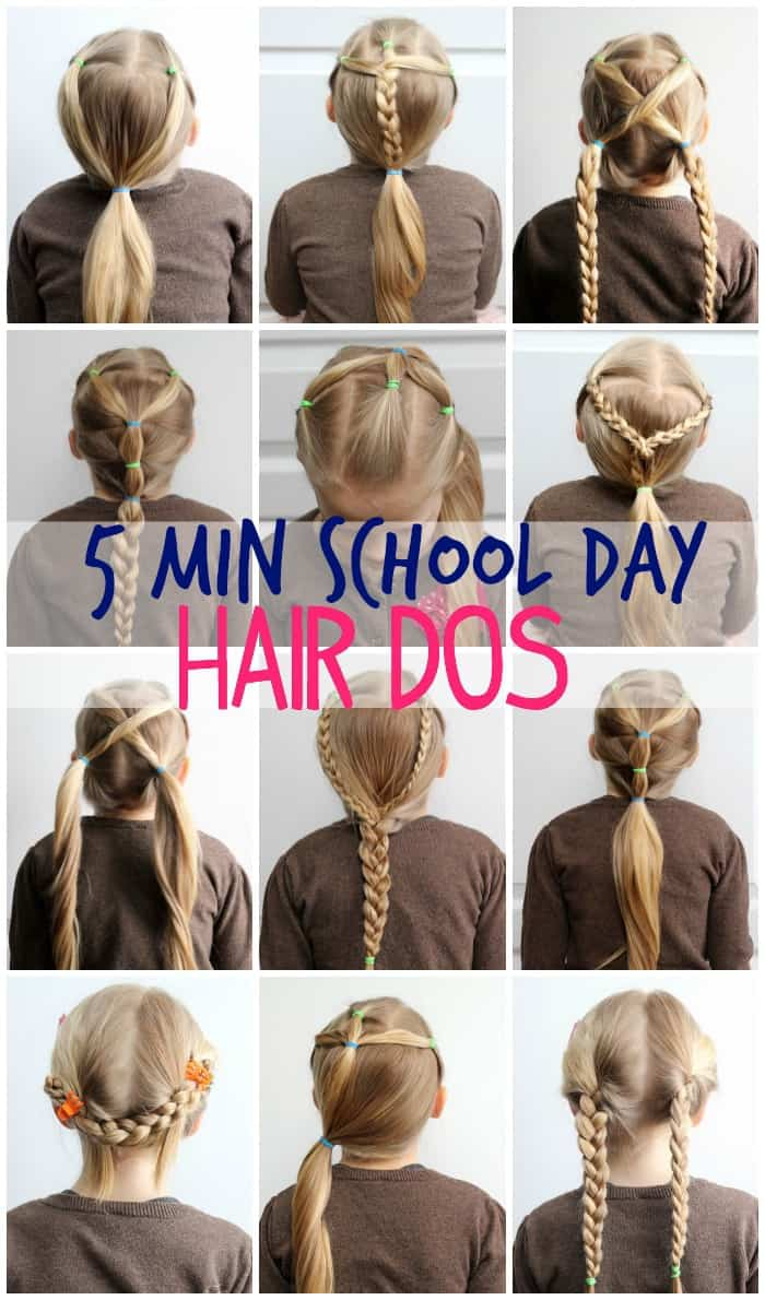 cute easy 5 minute hairstyles for school hair. Black Bedroom Furniture Sets. Home Design Ideas