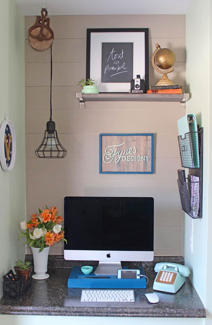 Small home office makeover fynes designs fynes designs - Small home office space gallery ...