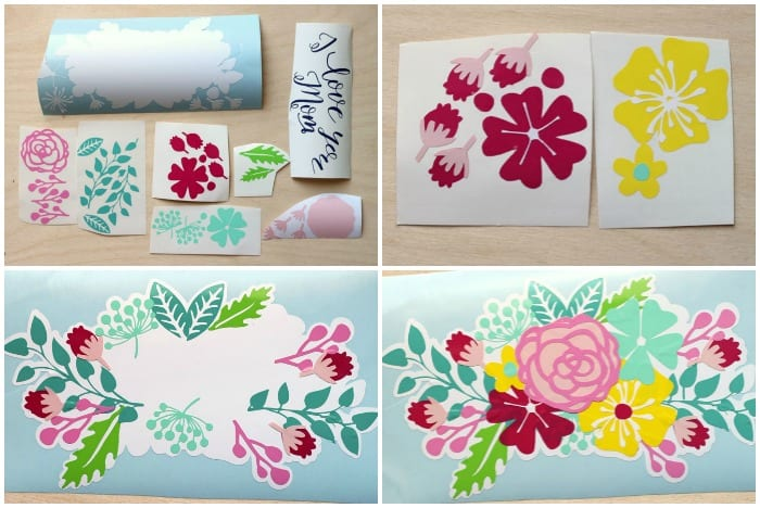 Gift Idea Plant Pot Decals With Free Silhouette Cut File