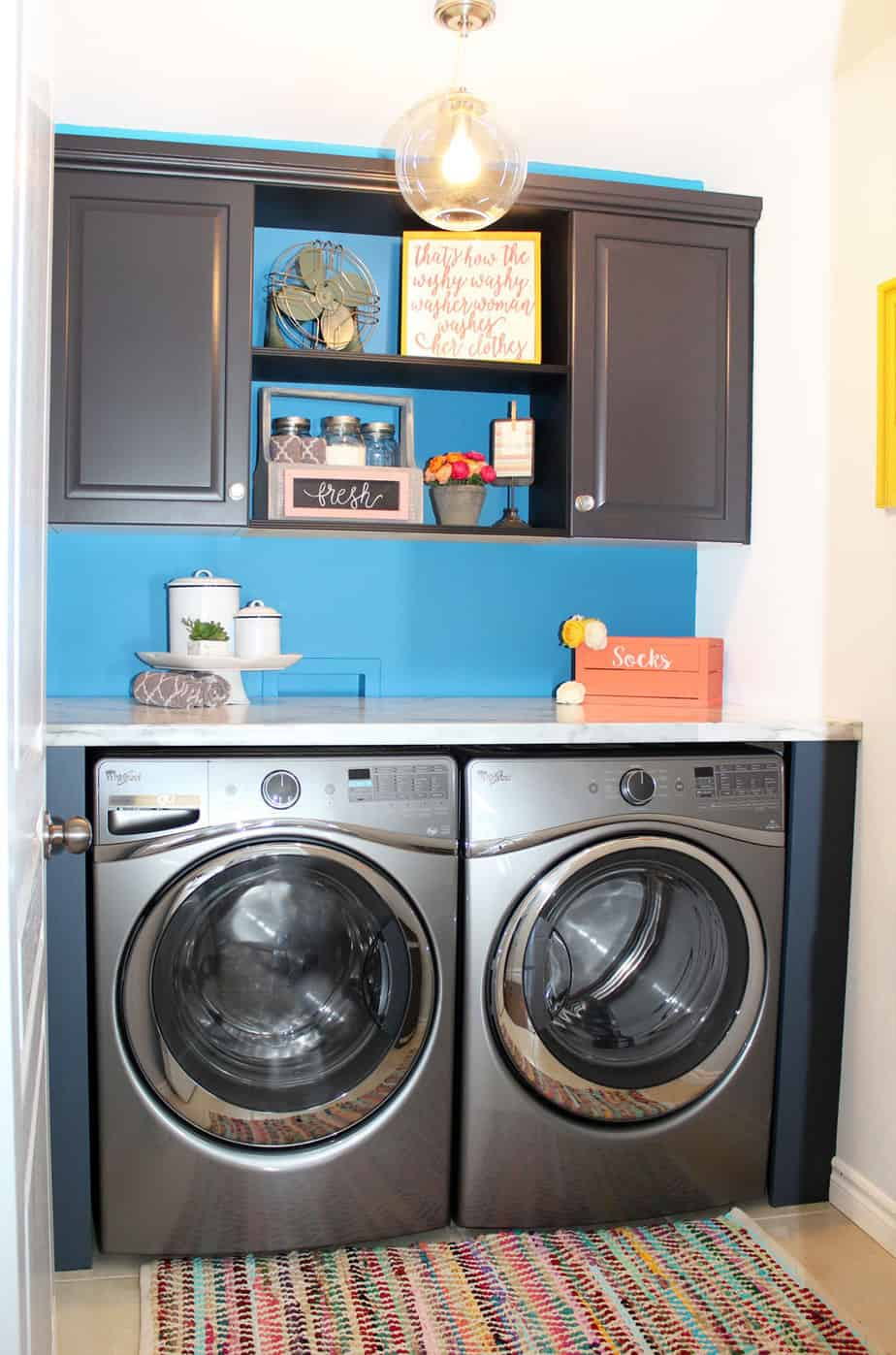 The big reveal simple laundry room ideas fynes designs fynes designs - Laundry room small space ideas paint ...