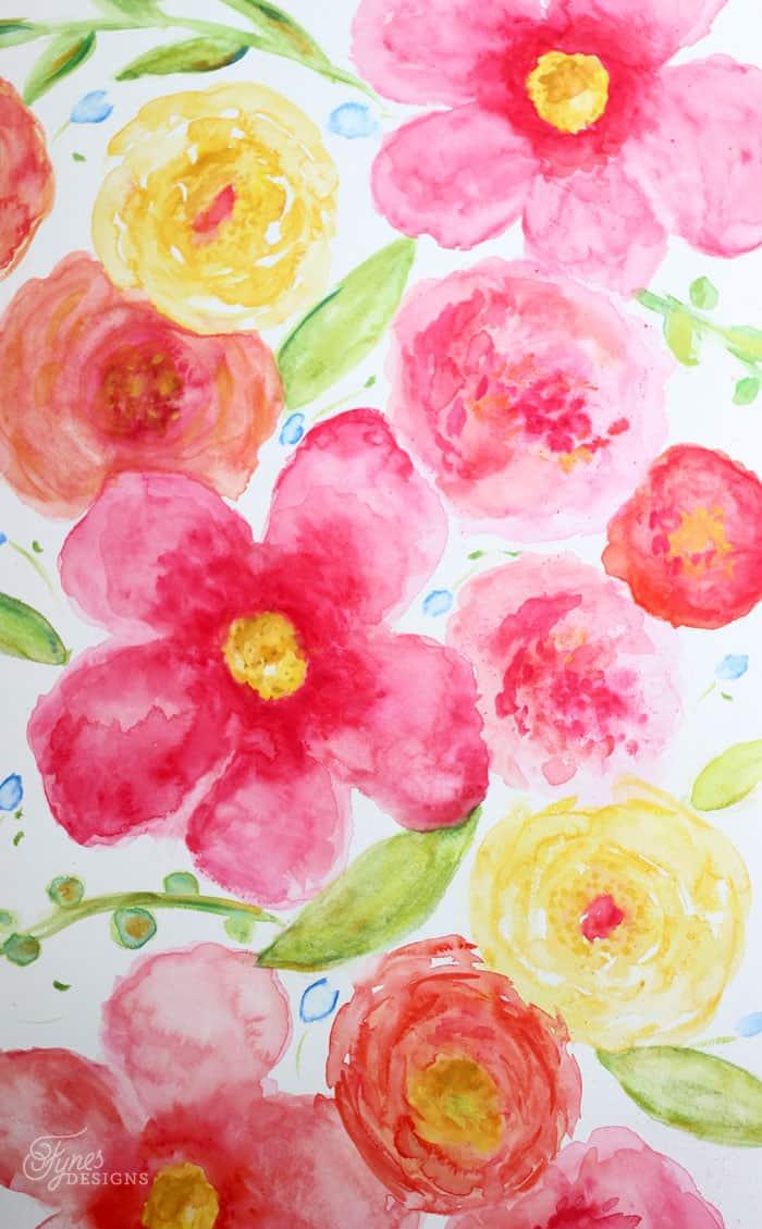 beginner floral watercolor painting fynes designs fynes designs rh fynesdesigns com