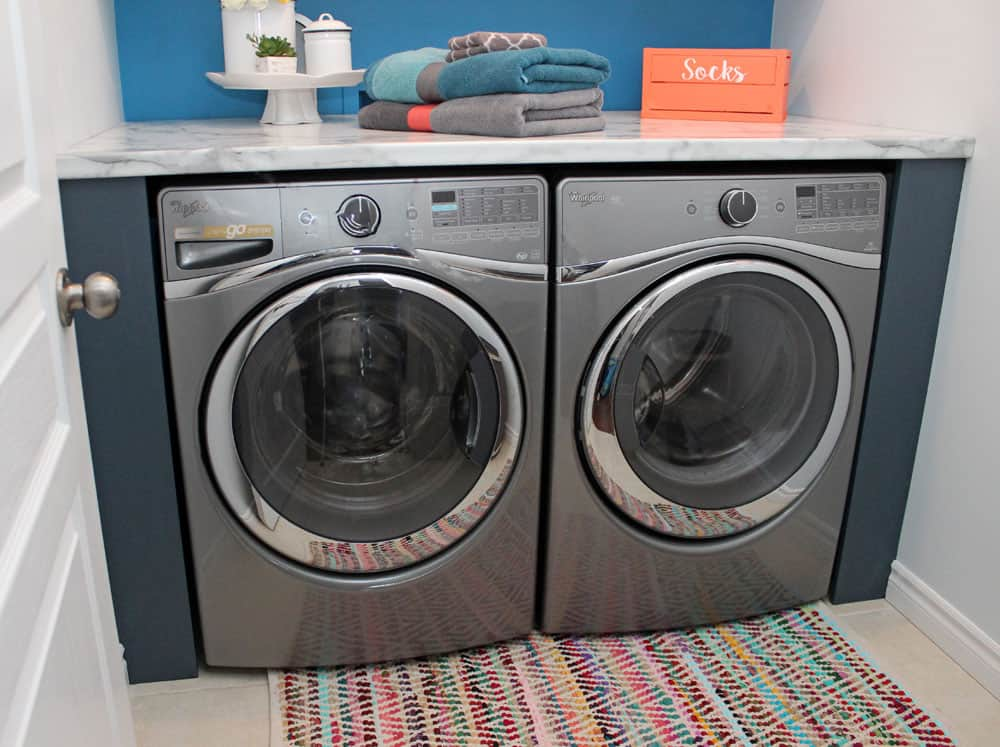 Big part of what is making this laundry room design so efficient and - The Big Reveal Simple Laundry Room Ideas Fynes Designs