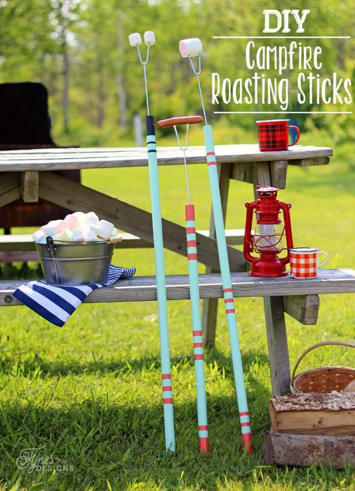 DIY Campfire Roasting Sticks