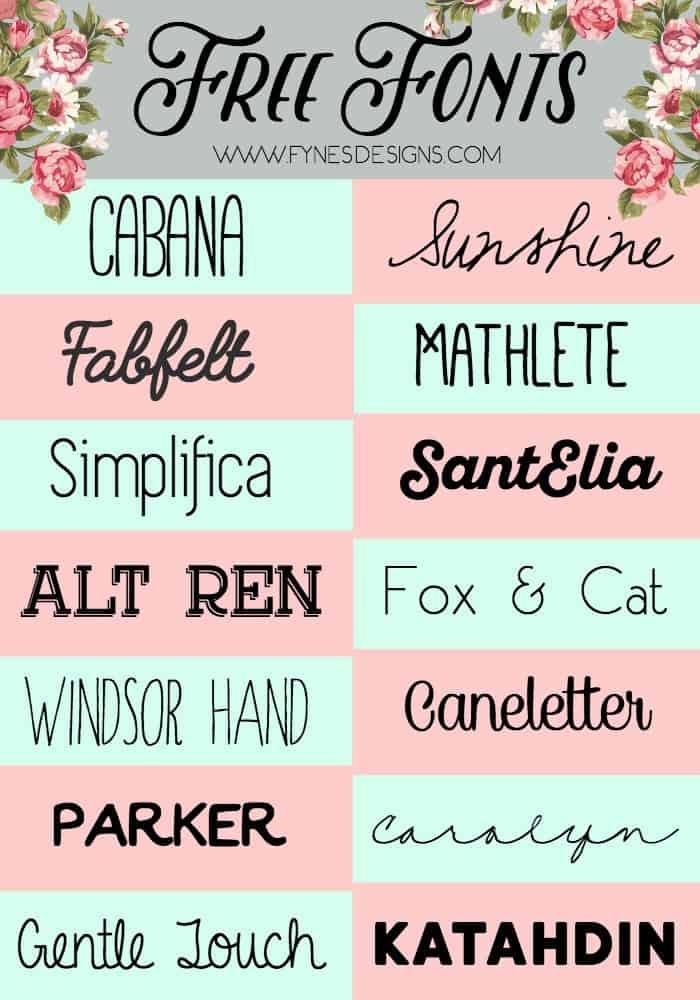 14 Fabulous Free Fonts Fynes Designs