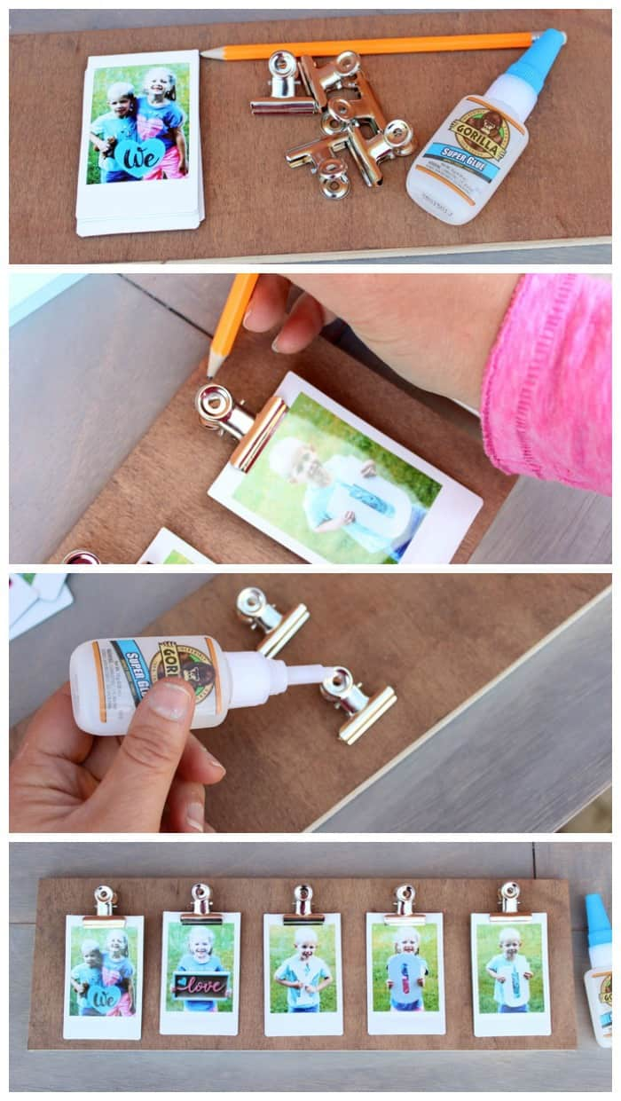This Photo Clip Frame Is Ridiculously Easy To Make You Can Get A 1 X 6 Cut At The Home Depot If Don T Have Tools Stain Or Paint Desired