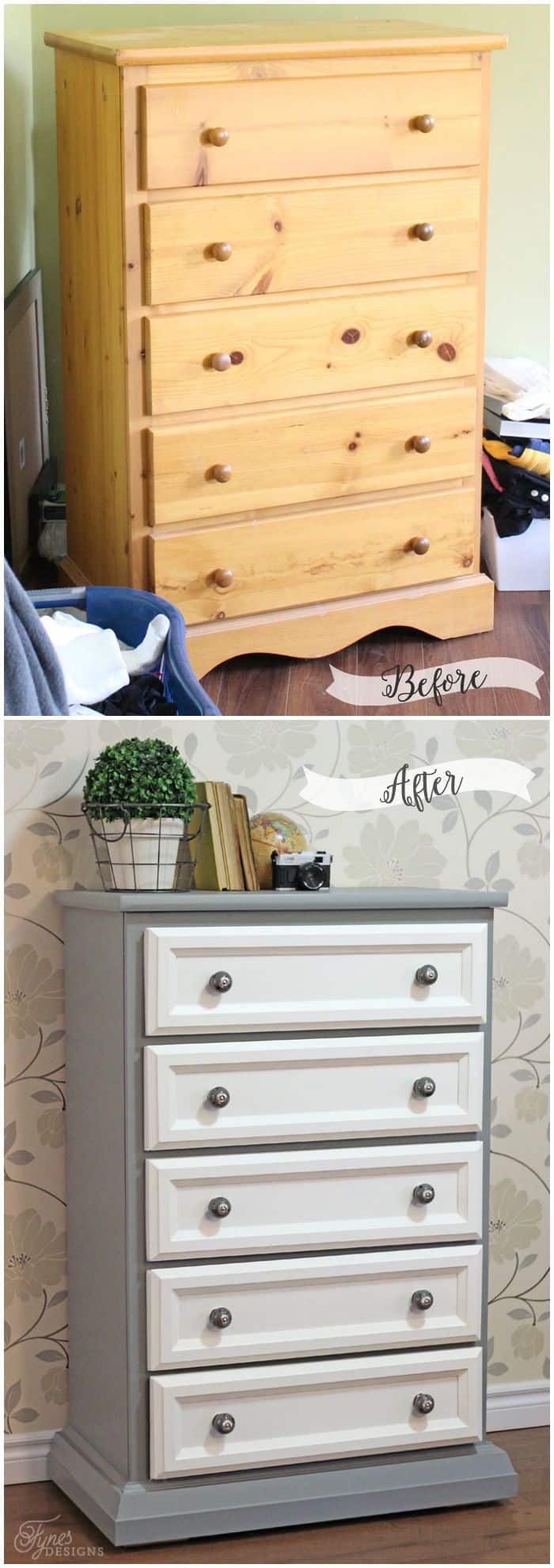 Tall dresser makeover tutorial with trim and paint fynes for Design makeover