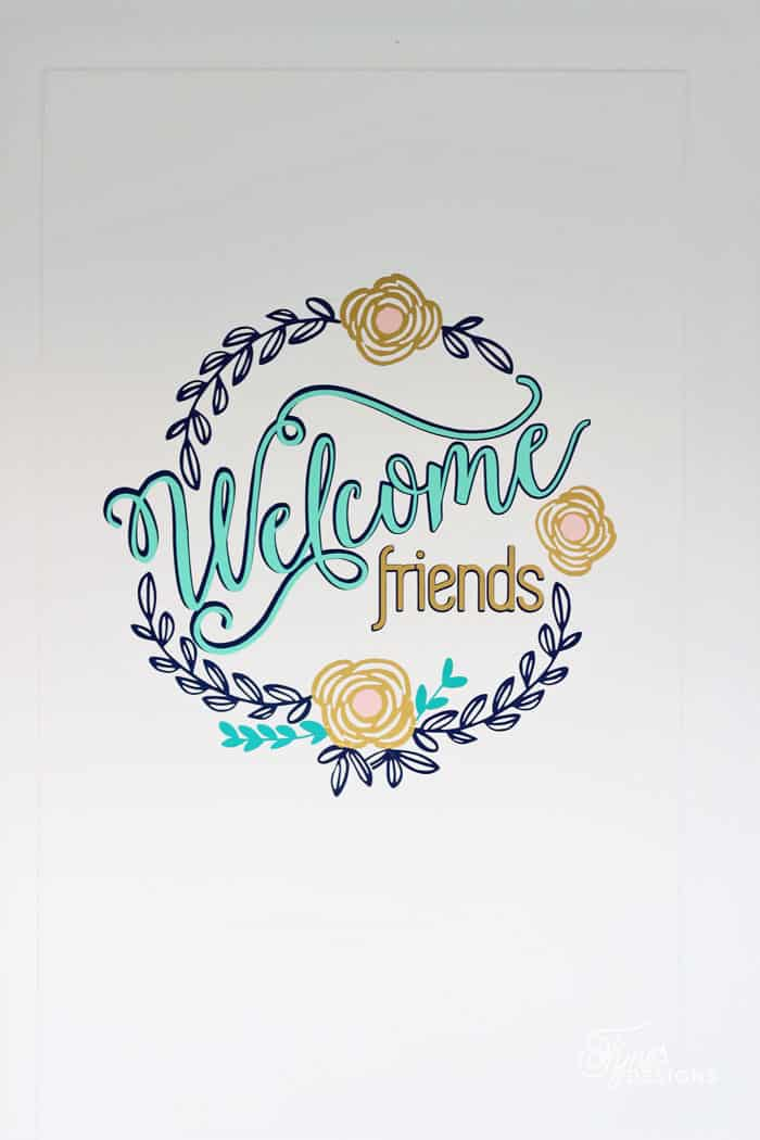 You All Know How I Love To Make A Wreath, But Todayu0027s Welcome Friends Vinyl  Door Decal Really Takes The Front Door Wreath To A New Level!