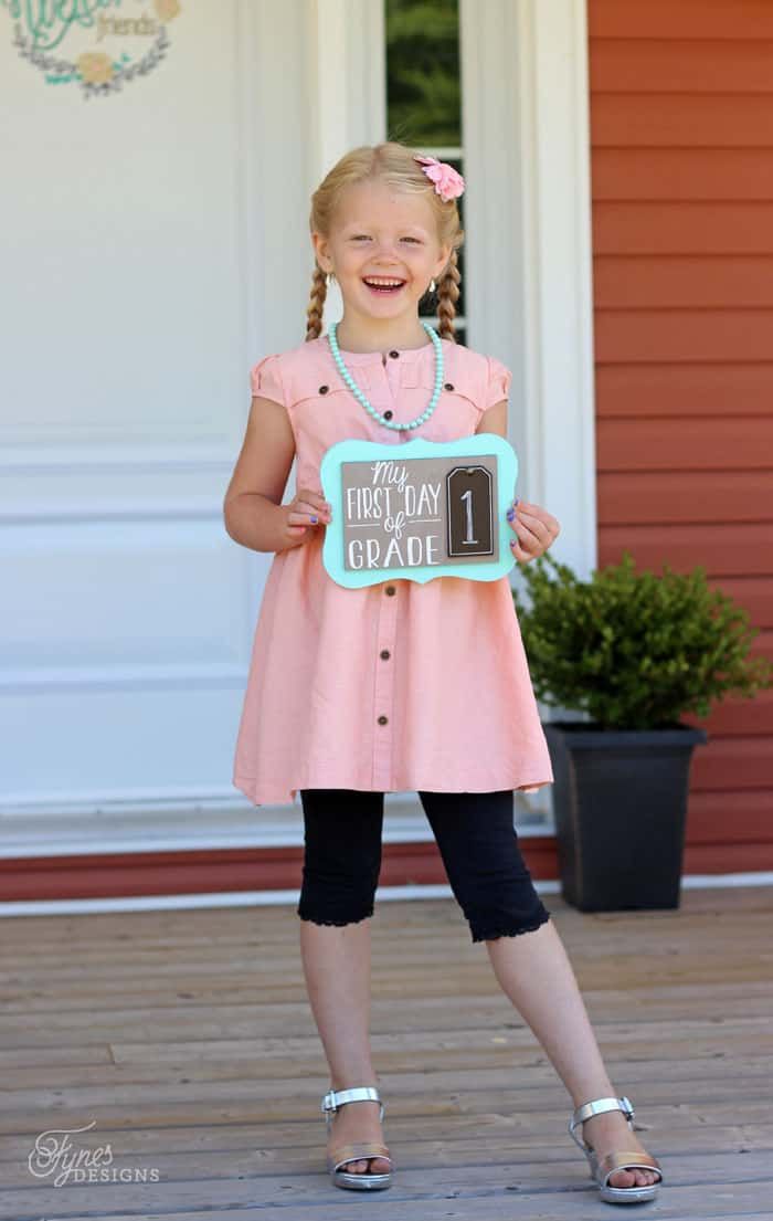 First Day of School Photo Prop | FYNES DESIGNS First Photograph Date