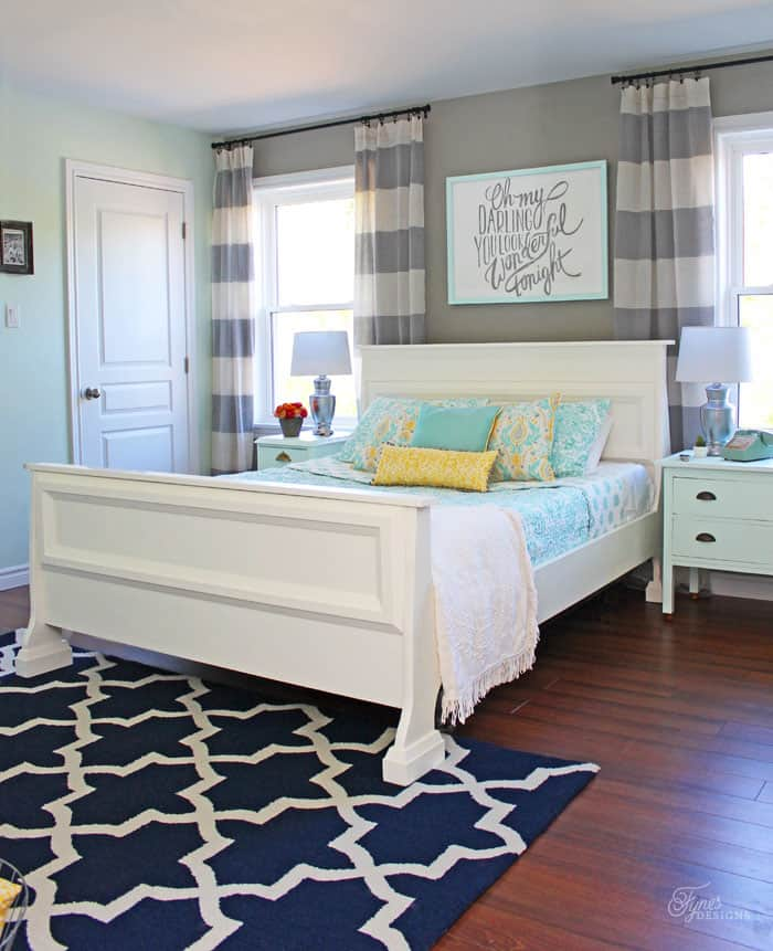Master bedroom makeover paint colors