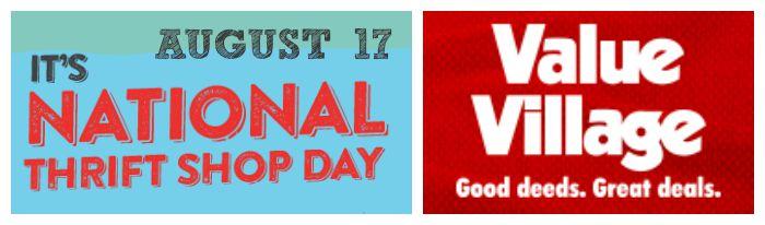 Value Village National Thrift shop day Aug 17