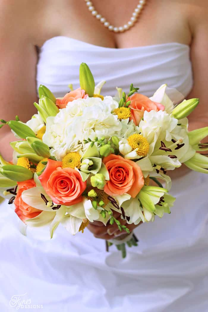 Handmade Wedding Bouquets with Costco Flowers - FYNES DESIGNS ...
