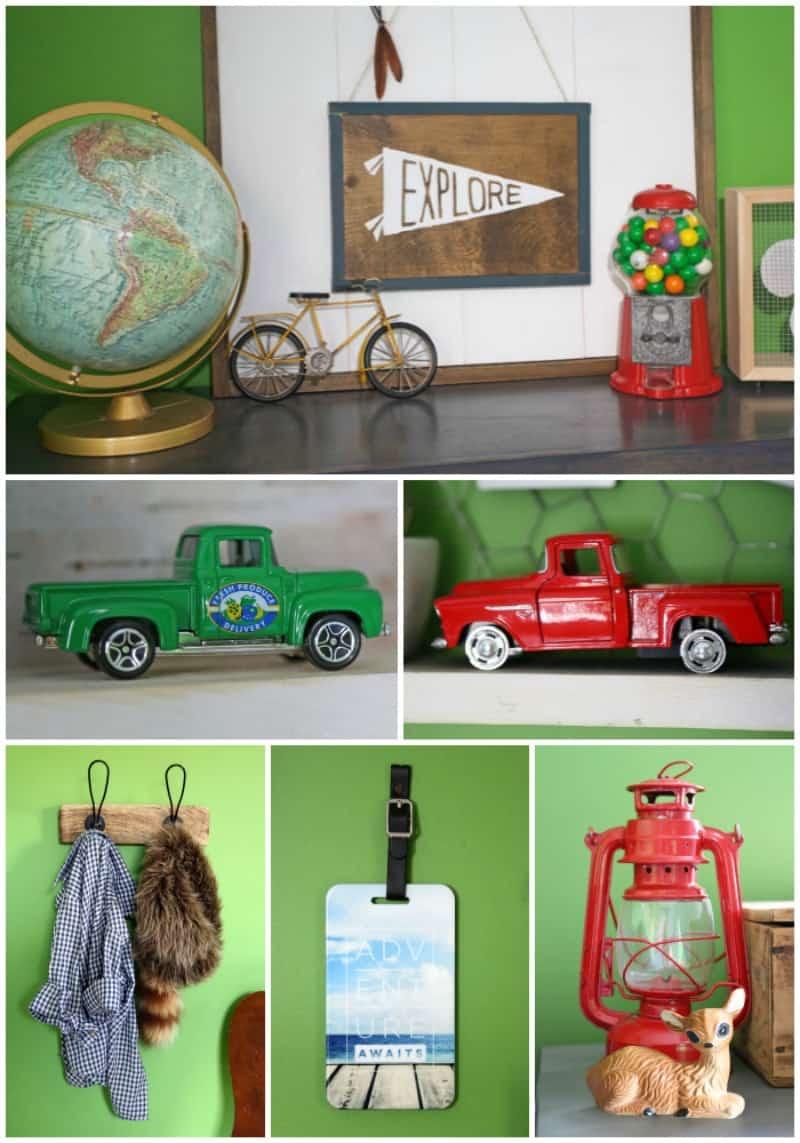 Boy's rustic bedroom accessories
