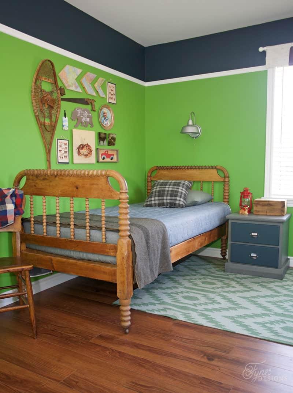 Modern rustic kids bedroom - Modern Rustic Boy S Bedroom Reveal
