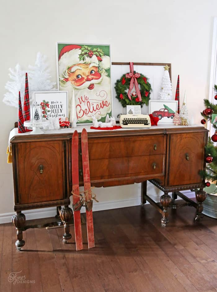 We Believe Vintage Santa Canvas from Shutterfly