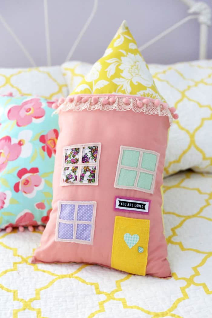 House Pillow Kit from Be Crafty Workshop- get the kit to create your own