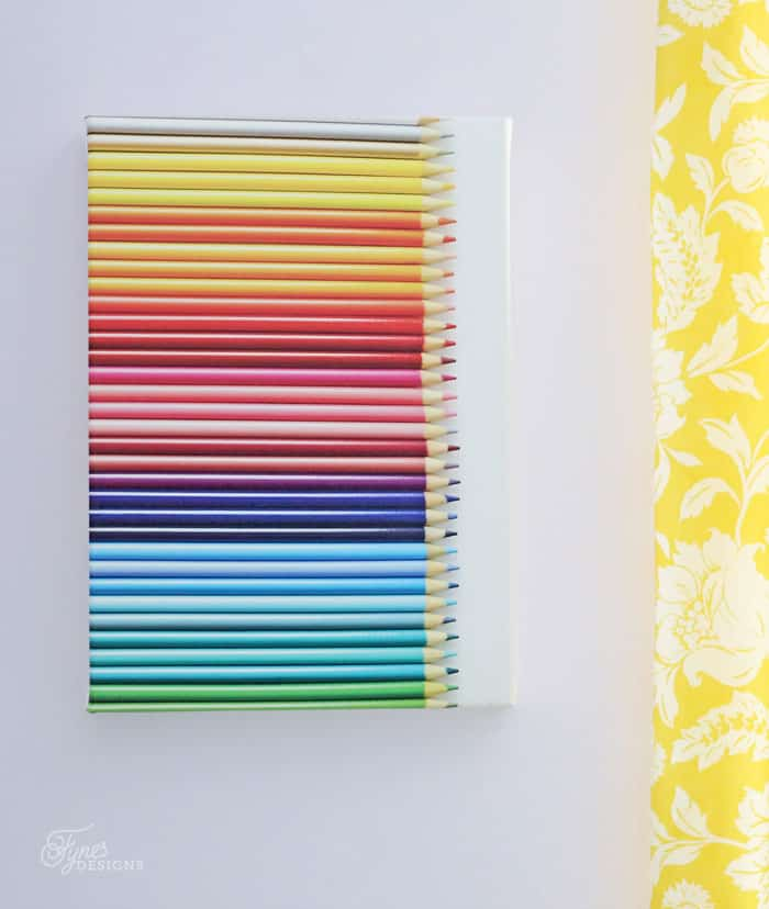 Pencil crayon art work printed on canvas at Shutterfly