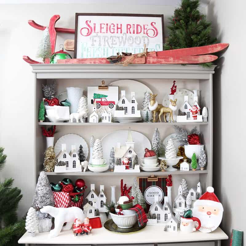 Decorating Ideas > 2016 Christmas Decorations  FYNES DESIGNS  FYNES DESIGNS ~ 012415_Christmas Decorating Ideas Hutch